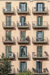 Barcelona typical facades